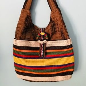 Handbag, Aztec/Southwestern style Fabric
